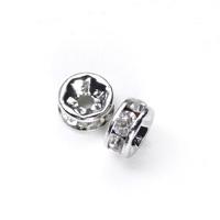 【メール便対応可】ロンデル5×3mmロジウムカラーメッキ10個セット(1.0mm穴)-001