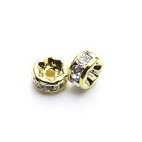 【メール便対応可】ロンデル4×2mmゴールドカラーメッキ10個セット(1.0mm穴)-003