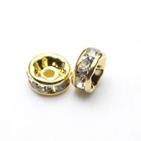 【メール便対応可】ロンデル5×3mmゴールドカラーメッキ10個セット(1.0mm穴)-004