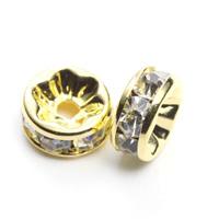 【メール便対応可】ロンデル8×3.5mmゴールドカラーメッキ5個セット(1.0mm穴)-005