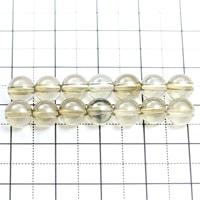 【メール便対応可】シャンパンオーラ水晶6〜6.5mm(1.0mm穴)