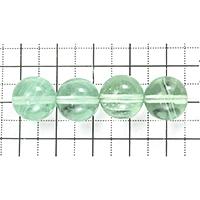 【メール便対応可】グリーンフローライト 12mm(1.0mm穴)
