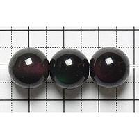 【メール便対応可】レインボーオブシディアンAAA12mm(1.0mm穴)