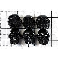 【メール便対応可】オニキスドクロ(手彫り)15×10×11mm(1.0mm穴)