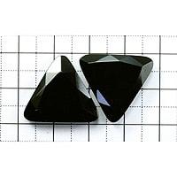 【メール便対応可】オニキストライアングルファセットカット19×20×6mm(0.8mm穴)