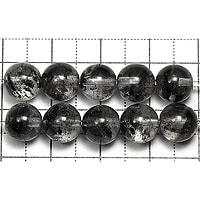 【メール便対応可】ブラックファントムクォーツAAA7.5〜8mm(1.0mm穴)