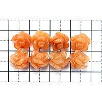 【メール便対応可】オレンジクォーツァイトローズクレオ10×10mm(1.0mm穴)