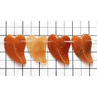【メール便対応可】オレンジクォーツァイトリーフ18×14×5mm(0.8mm穴)
