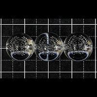 【メール便対応可】水晶武将家紋彫り(伊達政宗)12mm(1.0mm穴)