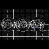 【メール便対応可】水晶武将家紋彫り(織田信長)12mm(1.0mm穴)