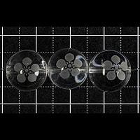【メール便対応可】水晶武将家紋彫り(前田慶次)12mm(1.0mm穴)