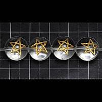 【メール便対応可】水晶五芒星彫り12mm(1.0mm穴)
