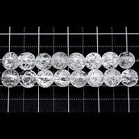 【メール便対応可】クラッククォーツ 6mm(1.0mm穴)