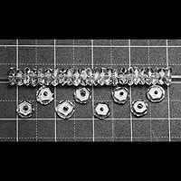 【メール便対応可】水晶平カット(小)4mm(1.0mm穴)
