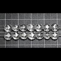 【メール便対応可】水晶スターカット6mm(1.0mm穴)