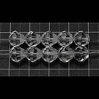 【メール便対応可】水晶カット梨型8mm(1.0mm穴)