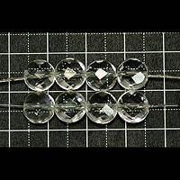 【メール便対応可】水晶円盤型カット8×8×5mm(1.0mm穴)