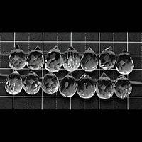 【メール便対応可】水晶しずくカット6×6×9mm(0.8mm穴)
