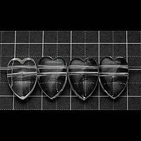 【メール便対応可】水晶プレーンハート横穴タイプ6×10×15mm(1.0mm穴)