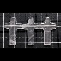 【メール便対応可】ローズクォーツ クロス横クレオ 24×16×4(0.8mm穴)