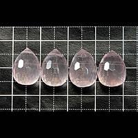【メール便対応可】ローズクォーツ ブリオレットカット AAA 10×10×14(0.8mm穴)