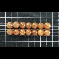 【メール便対応可】オレンジルチルクォーツAAAA5〜6mm(1.0mm穴)
