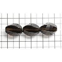【メール便対応可】スモーキークォーツ6サイドファセットカット15×10×10mm(1.0mm穴)