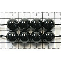 【メール便対応可】ブラックトルマリン 10mm(1.0mm穴)