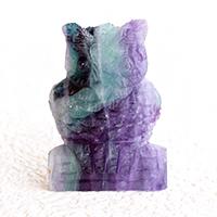 フローライト彫り物 フクロウ-004