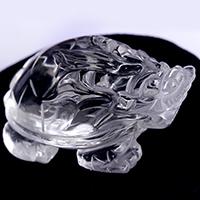 水晶彫り物 龍亀(ろんぐい)-065