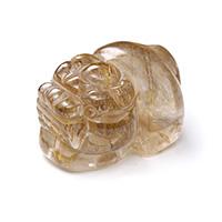 ルチルクォーツ彫り物貔貅(ひきゅう)-033