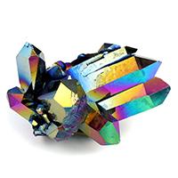ブラックアクアオーラ水晶クラスター-184