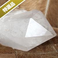 【特選品】ブラジル産トライゴーニック水晶ポイント-001