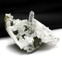 中国産エピドート共生水晶クラスター-017