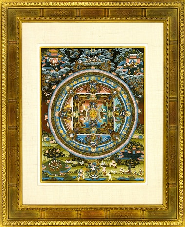 """"""" .【特選品】チベット時輪(カーラチャクラ)曼荼羅-002. """""""
