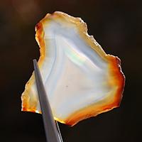 魅惑!虹色の輝き!極上厳選インドネシア産イリスアゲートスライス-001