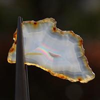 魅惑!虹色の輝き!極上厳選インドネシア産イリスアゲートスライス-003