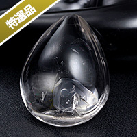 【特選品】水入りレインボー水晶磨き-001