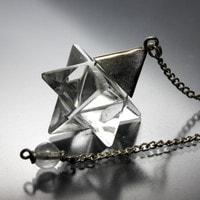 水晶マカバ(マルカバスター)ペンデュラム-022