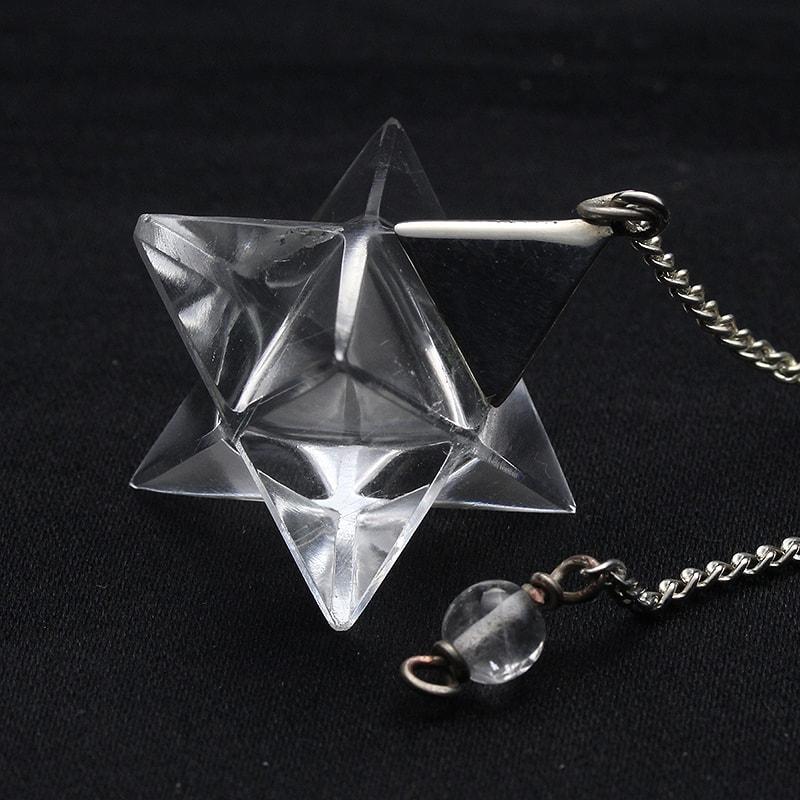 【日替わりセール】水晶マカバペンデュラム-026