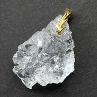【特選品】アクアマリン結晶ペンダント(K18)-008(UI-51)
