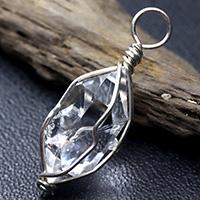 ハーキマーダイヤモンド原石ペンダント-004