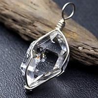 ハーキマーダイヤモンド原石ペンダント-005