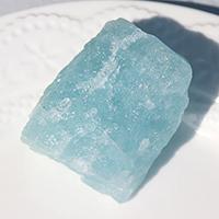 溶解アクアマリン原石-049