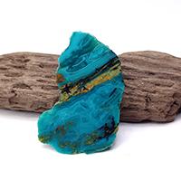 アリゾナ産クリソコラ原石磨きプレート-031