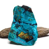 アリゾナ産クリソコラ原石磨きプレート-036