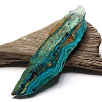 アリゾナ産クリソコラ原石磨きプレート-037