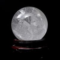 レインボー水晶AAA丸玉(台座付き)-085