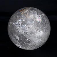 レインボー水晶丸玉-088
