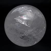レインボー水晶丸玉-090